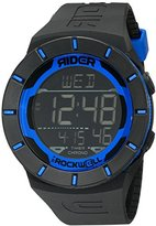 Rockwell Time Unisex RCL105 Coliseum Black Band Blue Accent Digital Watch