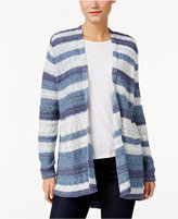 Style&Co. Style & Co Striped Open-Front Cardigan, Only at Macy's