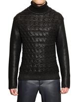 Salvatore Ferragamo Handmade Coated Wool Turtle Neck Sweater