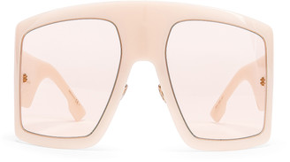 Christian Dior Shield Sunglasses in Ivory & Pink | FWRD