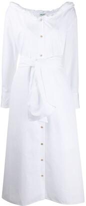 Kenzo tie-waist button-through midi dress