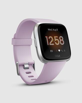 Fitbit Versa Lite Watch Lilac Silver Aluminum