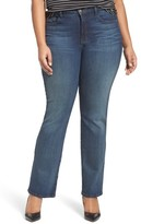 NYDJ Plus Size Women's 'Billie' Stretch Mini Bootcut Jeans
