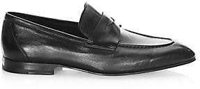 Santoni Men's Gannon-1 Leather Penny Loafers