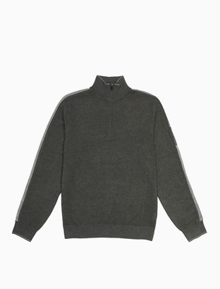Calvin Klein Regular Fit Logo Stripe Zip Sweater