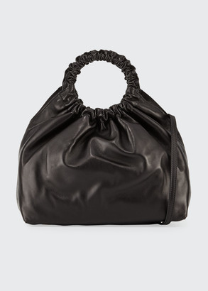 The Row Medium Double Circle Bag in Lamb Leather