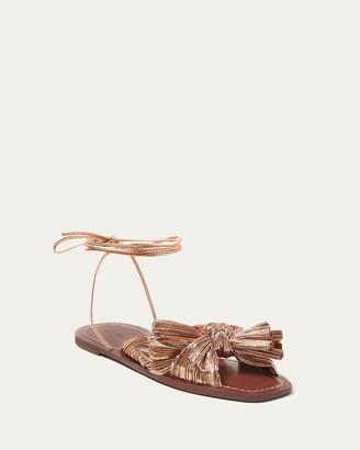 Loeffler Randall Peony Dark Rose Gold Bow Sandal