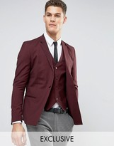 ONLY & SONS Skinny Suit Jacket With Square Hem In Marl