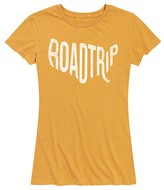 Instant Message Women's Women's Tee Shirts HEATHER - Heather Golden Meadow 'Road Trip' USA Relaxed-Fit Tee - Women