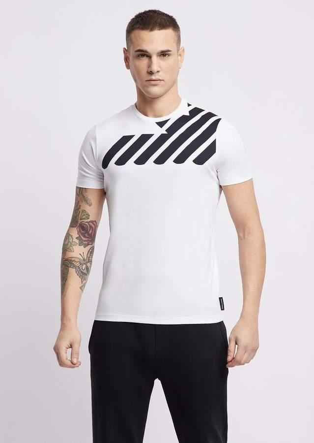 Emporio Armani Cotton Interlock Jersey T-Shirt With Logo