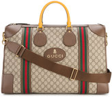 Gucci GG Supreme logo printed duffel bag - men - Cotton/Leather - One Size