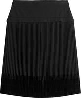 Carven Pleated Skirt with Velvet