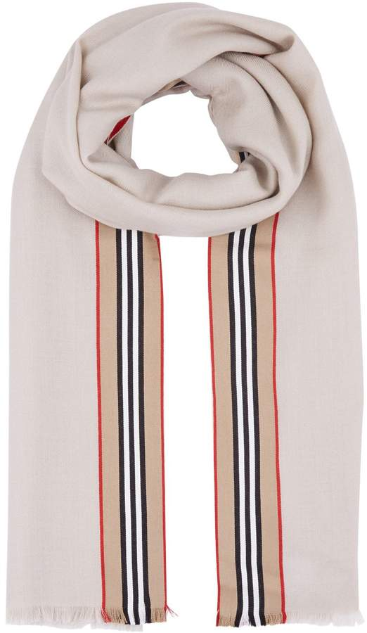 Burberry Cashmere Icon Stripe Scarf