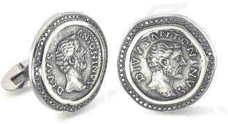 Jorge Adeler Men's 18k White Gold Ancient Coin Cufflinks
