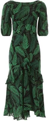 Rixo Cheryl Ruffle Midi Dress