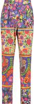 Stella Jean Pleated printed cotton straight-leg pants