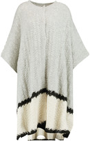 Elizabeth and James Oversized textured-knit cape