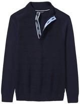 Crew Clothing Marwood Half Button Knit