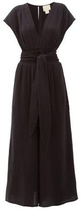 Anaak - Anneka Wide-leg Cotton-gauze Jumpsuit - Black