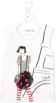 Junior Gaultier girl print top