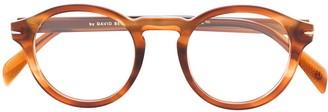 David Beckham Eyewear Round Frame Tortoise-Shell Sunglasses
