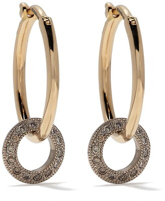 hum 18kt Yellow Gold Diamond Disc Hoops