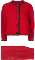 1980s Chanel CC setup suit jacket skirt