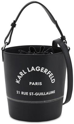 Karl Lagerfeld Paris Rue St-Guillaume Leather Bucket Bag