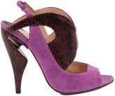 Nicholas Kirkwood Purple Suede Sandals
