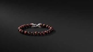 David Yurman Spiritual Beads Bracelet With Red Tiger's Eye, 8Mm