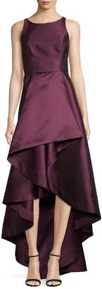Adrianna Papell Mikado High-Low Cocktail Dress