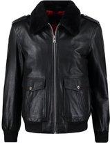 Oakwood Cockpit Leather Jacket Noir