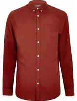River Island MensRed casual Oxford shirt