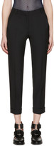 Carven Black Cropped Cuffs Trousers
