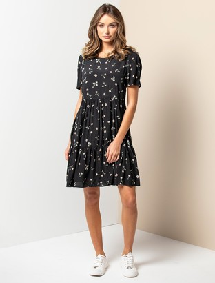 Forever New Tina Smock Dress - Micro Daisy - 10