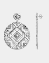 Thomas Sabo African Weave Disc Earrings