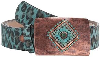 Leather Rock Mila Belt (Turquoise) Women's Belts