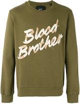Blood Brother appliquéd sweatshirt - men - Cotton - XS