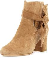 Rag & Bone Dalia Suede Ankle-Tie Bootie, Camel