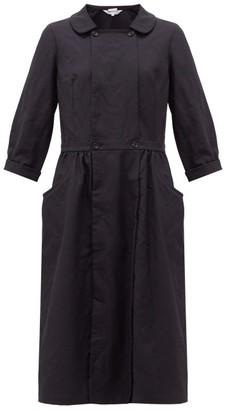 Comme des Garcons Peter Pan-collar Twill Dress - Womens - Navy