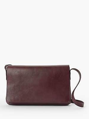 John Lewis & Partners Eden Leather Slim East/West Cross Body Bag