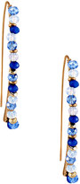 Lydell NYC Beaded Delicate Linear Drop Earrings, Blue