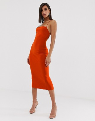 Bec & Bridge lea lace up midi dress