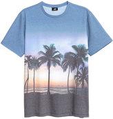 H&M Printed T-shirt - Blue/palms - Men