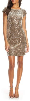 Eliza J Sparkle Sequin Cocktail Minidress