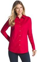 Chico's Embossed Eryn Red Shirt
