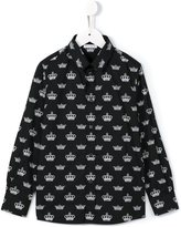 Dolce & Gabbana crown print shirt - kids - Cotton - 2 yrs