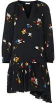 Joie Agrafena Floral-print Silk Crepe De Chine Mini Dress