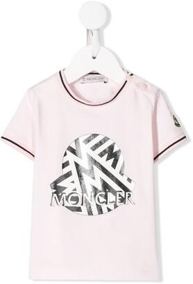 Moncler Enfant metallic logo printed T-shirt