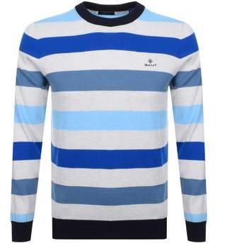 Gant Multi Striped Knit Jumper Blue